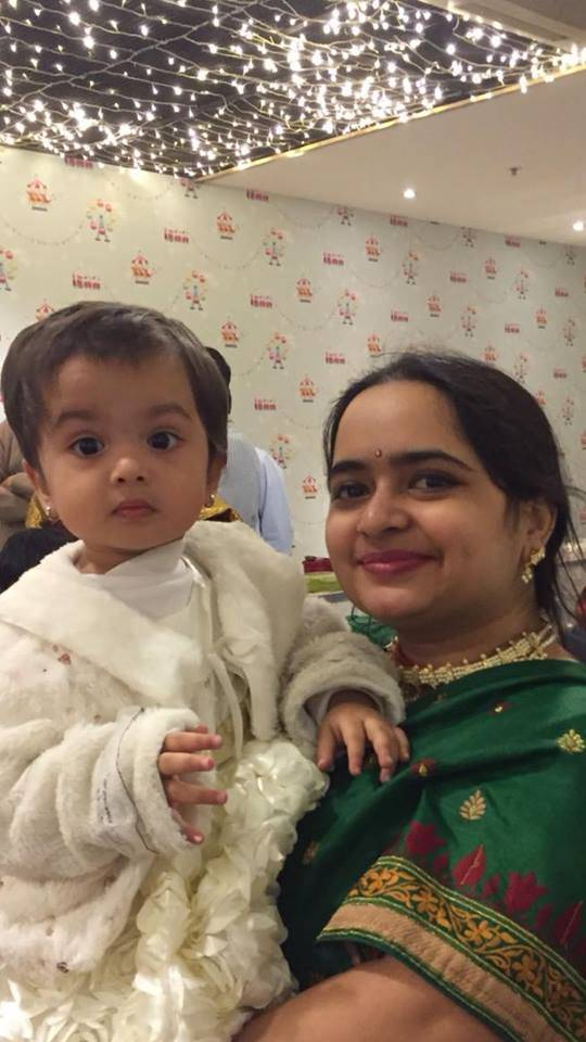 Janhavi and her daughter wishing you all Hartaleeka Teej.